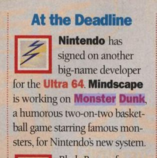 Monster Dunk Cancelled N64 Game