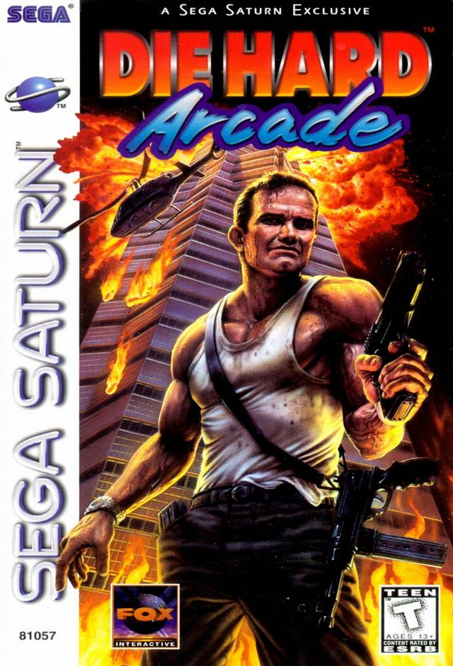 Die Hard Arcade Saturn Box