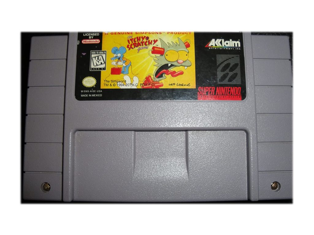 Itchy Scratchy SNES Cart