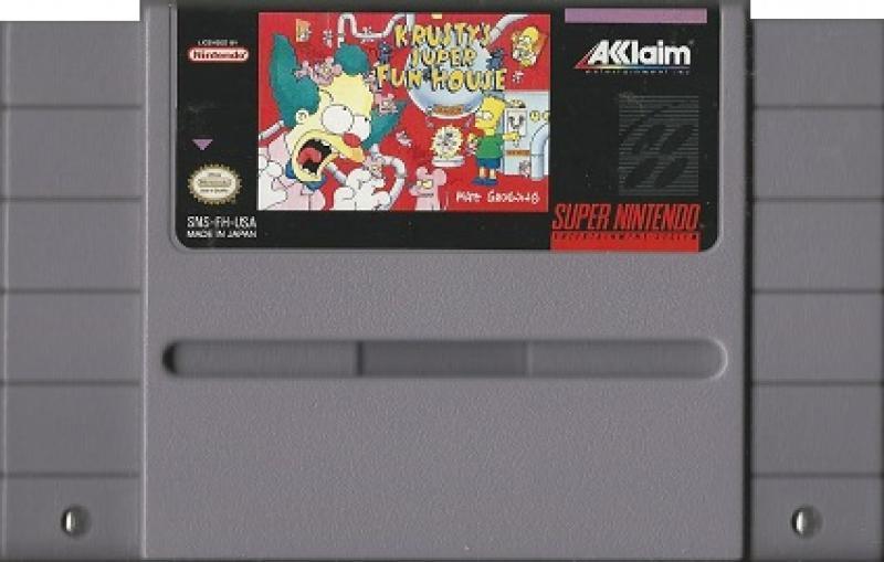 Krusty's Super Funhouse SNES Cart